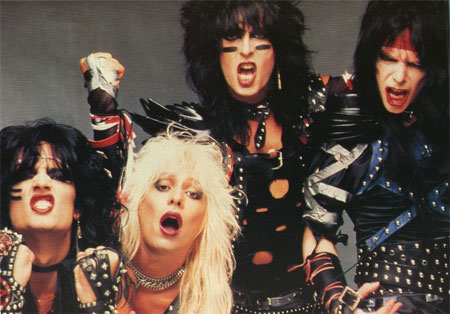 Prominent Images of 1980s Glam Metal Scene