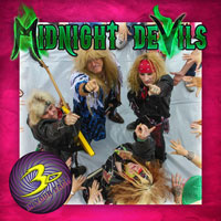 [3-D in Your Face Midnight Devils Album Cover]