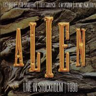 [Alien Live in Stockholm 1990 Album Cover]