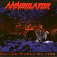 [Annihilator Set The World On Fire Album Cover]