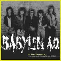 [Babylon A.D. In The Beginning... Persuaders Recordings 86-88 Album Cover]