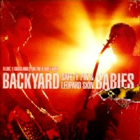 [Backyard Babies Safety Pin and Leopard Skin Album Cover]
