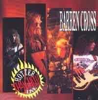 [Barren Cross Hotter Than Hell! Live Album Cover]