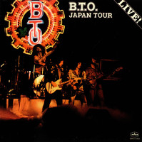 [Bachman-Turner Overdrive B.T.O. Japan Tour Live! Album Cover]