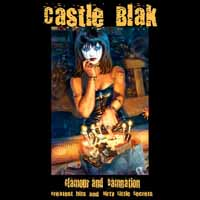 [Castle Blak Glamour Damnation - Greatest Hits and Dirty Little Secrets Album Cover]
