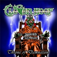 [Cloven Hoof Throne of Damnation Album Cover]