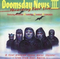 [Various Artists Doomsday News III - Thrashing East Live Album Cover]