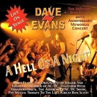 [Dave Evans A Hell of a Night! Album Cover]