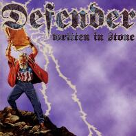 [Defender Written in Stone Album Cover]