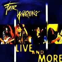[Fair Warning Live and More Album Cover]