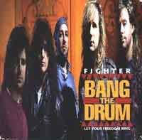 Fighter Bang the Drum Album Cover