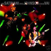 [G3 Live In Concert (Satriani, Johnson, Vai) Album Cover]