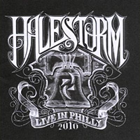 [Halestorm Live in Philly 2010 Album Cover]