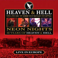 [Heaven and Hell Neon Nights: Live In Europe Album Cover]