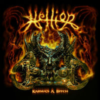 [Hellion Karma's a Bitch Album Cover]