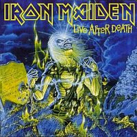 [Iron Maiden Live After Death Album Cover]