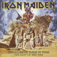 [Iron Maiden Somewhere Back In Time - The Best Of: 1980-1989 Album Cover]