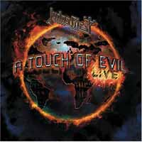 [Judas Priest A Touch Of Evil: Live Album Cover]