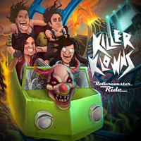 [Killer Klowns Rollercoaster Ride Album Cover]