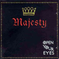 [Majesty Open Your Eyes Album Cover]