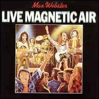 [Max Webster Live Magnetic Air Album Cover]