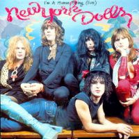 [New York Dolls I'm a Human Being (Live) Album Cover]
