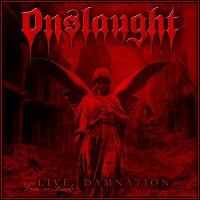 [Onslaught Live Damnation Album Cover]