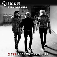 [Queen Live Around the World Album Cover]