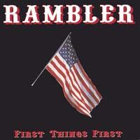 [Rambler First Things First Album Cover]
