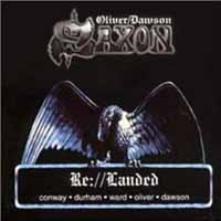 [Oliver/Dawson Saxon Re://Landed Album Cover]