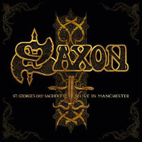 [Saxon St. Georges Day Sacrifice Live in Manchester Album Cover]