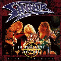 [Sinner In the Line of Fire - Live in Europe Album Cover]