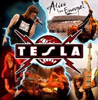 [Tesla Alive in Europe Album Cover]