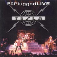 [Tesla Replugged Live Album Cover]
