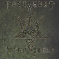 [Testament First Strike Still Deadly Album Cover]