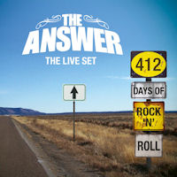 [The Answer 412 Days Of Rock 'N' Roll - The Live Set Album Cover]