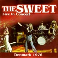 [The Sweet Live in Concert - Denmark 1976 Album Cover]