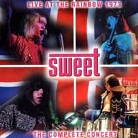 [The Sweet Live At the Rainbow 1973 Album Cover]