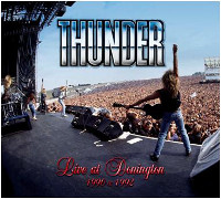 [Thunder Live At Donington 1990 1992 Album Cover]