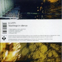 [Ulver Teachings in SIlence Album Cover]