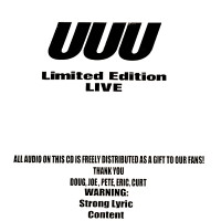 [UUU Limited Edition Live Album Cover]
