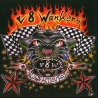 [V8 Wankers Blown Action Rock Album Cover]