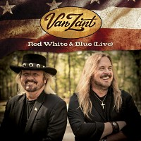 [Van Zant Red White and Blue (Live) Album Cover]