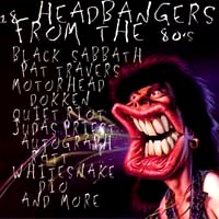 [Compilations 18 Headbangers From The 80's Album Cover]
