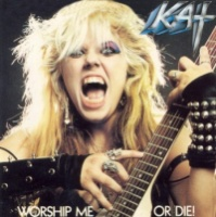[The Great Kat Worship Me or Die! Album Cover]