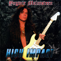 [Yngwie Malmsteen High Impact Album Cover]